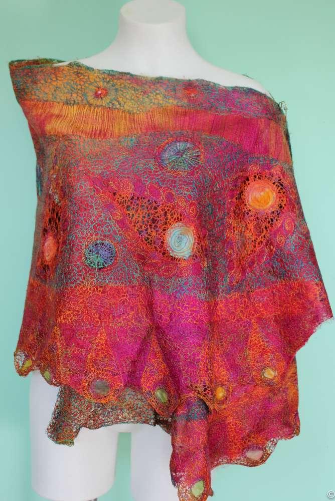 Carnival wrap free mtoin silk lap scarf