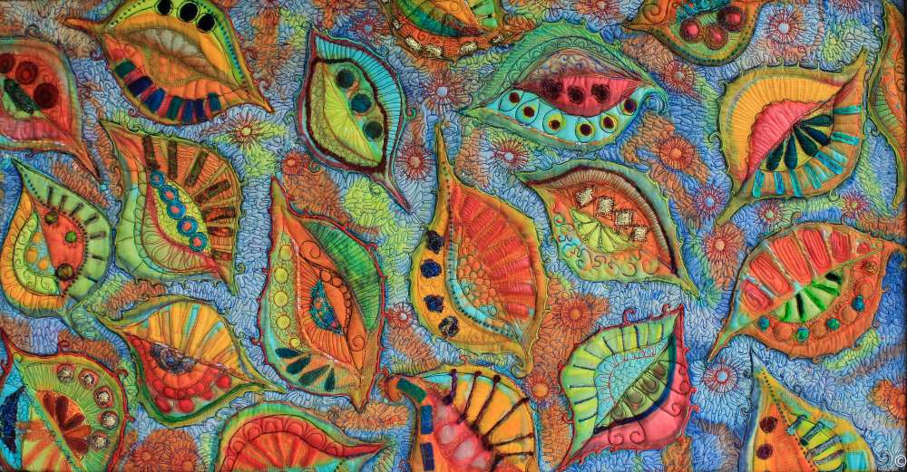 Swirling leaves approx size 50 ' x 45%22
