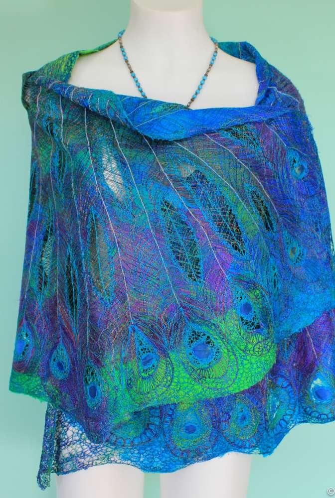 peacock wrap free motion silk lap swrap